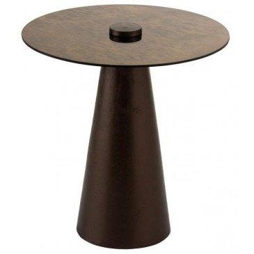 Table Gigogne Verre/Métal Marron | www.cosy-home-design.fr