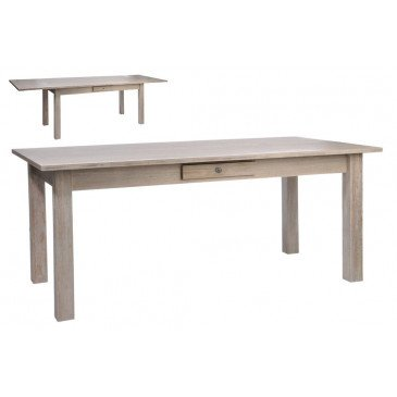 Table Rectangulaire Rallonges Bois Naturel | www.cosy-home-design.fr
