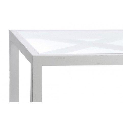 Table De Sal Rectangulaire Croix Bois/Verre Blanc | www.cosy-home-design.fr