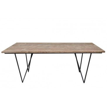 Table A Manger Rectangulaire Bois Naturel | www.cosy-home-design.fr