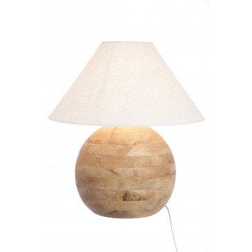 Lampe Boule Bois Naturel L | www.cosy-home-design.fr