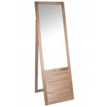 Miroir Debout Rectangulaire Bois Naturel | www.cosy-home-design.fr