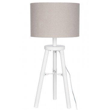 Lampe Trépied Bois Blanc S | www.cosy-home-design.fr