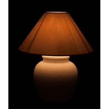 Lampe Ronde Céramique Blanche | www.cosy-home-design.fr