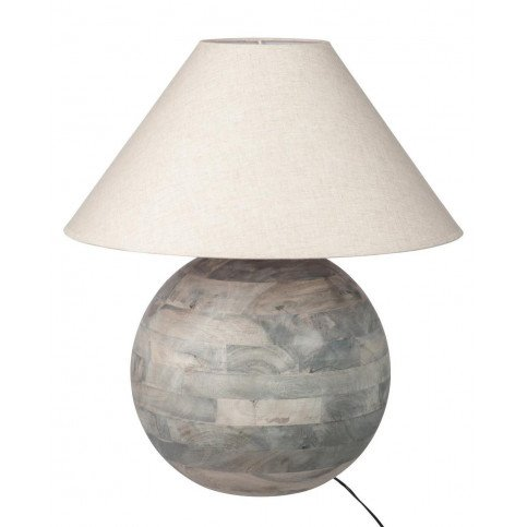 Lampe Boule Bois Gris L | www.cosy-home-design.fr