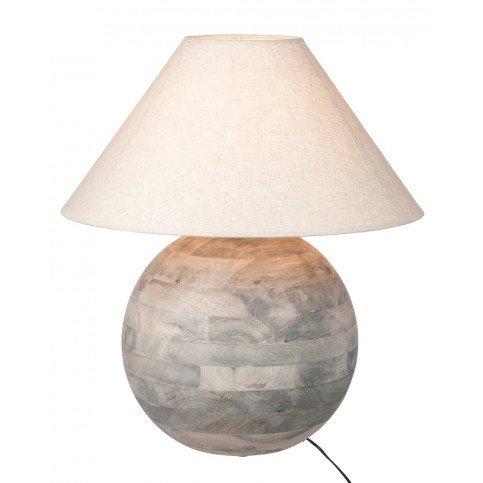 Lampe Boule Bois Gris L   www.cosy-home-design.fr