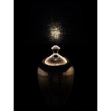 Lampe Arrondie Argentée et Abat-Jour Noir | www.cosy-home-design.fr