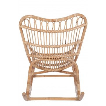 Fauteuil A Bascule Rotin Naturel | www.cosy-home-design.fr