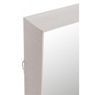Miroir Rectangulaire Bois Greige | www.cosy-home-design.fr