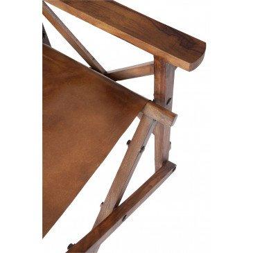 Chaise De Regisseur Pliable Bois/Cuir Cognac  | www.cosy-home-design.fr
