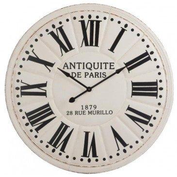 Horloge Antiquite De Paris Chiffres Romains Métal Blanc/Noir | www.cosy-home-design.fr