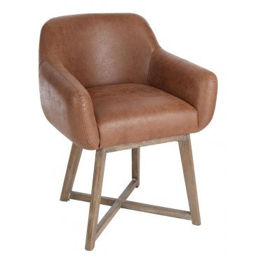 Chaise Croix Cuir Marron | www.cosy-home-design.fr