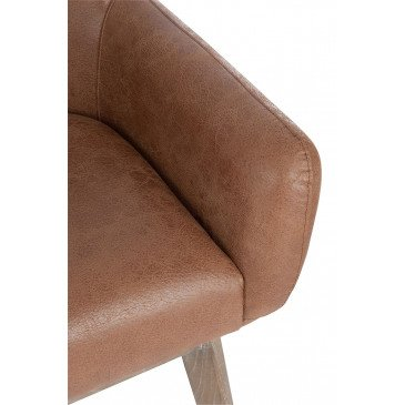 Chaise Croix Cuir Marron | www.cosy-home-design.fr