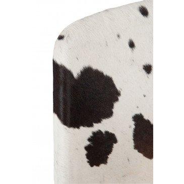 Chaise Croix Métal/Peau De Chevre Noir/Blanc | www.cosy-home-design.fr