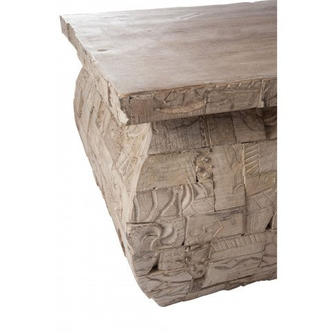 Table Basse Rectangulaire Bois Gris | www.cosy-home-design.fr