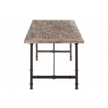 Table A Manger Rectangulaire Bois/Métal Gris  | www.cosy-home-design.fr