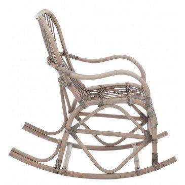 Chaise A Bascule Rotin Gris | www.cosy-home-design.fr