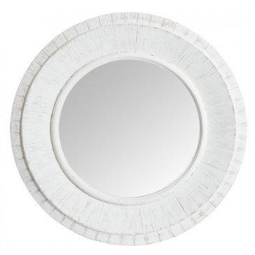 Miroir Rond Bois Blanc | www.cosy-home-design.fr