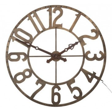 Horloge Chiffres Romains Rond Fer Forge Marron Petit | www.cosy-home-design.fr