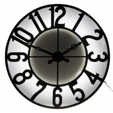 Horloge Chiffres Romains Rond Fer Forge Marron Petit | www.cosy-home-design.fr