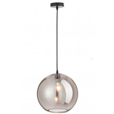 Lampe Boule Verre Argent L | www.cosy-home-design.fr