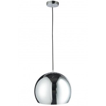 Suspension Boule Métal Argent L | www.cosy-home-design.fr
