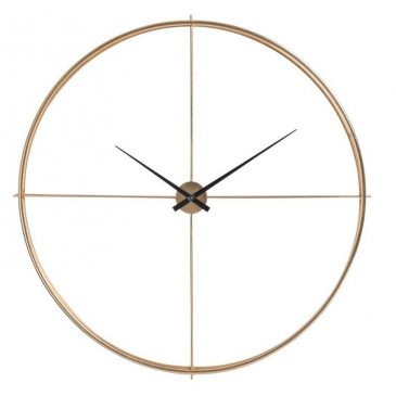 Horloge Ronde Métal Or | www.cosy-home-design.fr