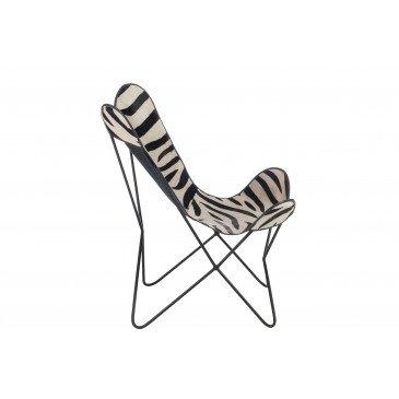 Chaise Salon Cuir/ Métal Zèbre | www.cosy-home-design.fr