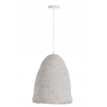 Suspension Ovale Chanvre Blanc | www.cosy-home-design.fr