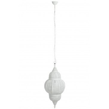 Suspension Orientale Métal Blanc | www.cosy-home-design.fr