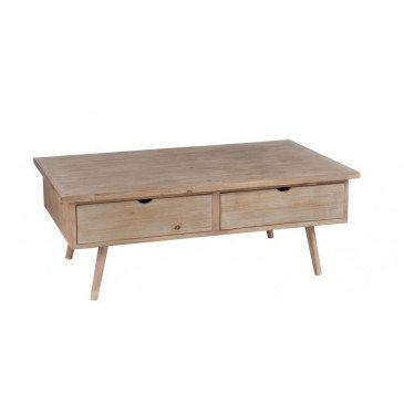 Table Basse 4 Tiroirs Bois Naturel | www.cosy-home-design.fr