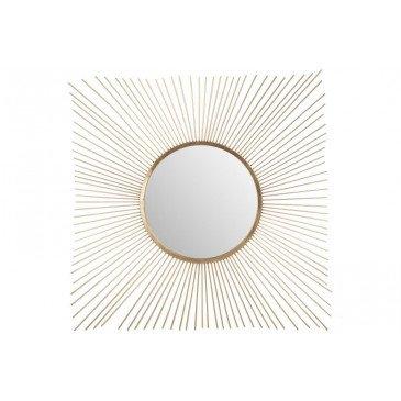 Miroir Rayon Soleil Métal/Verre Or | www.cosy-home-design.fr