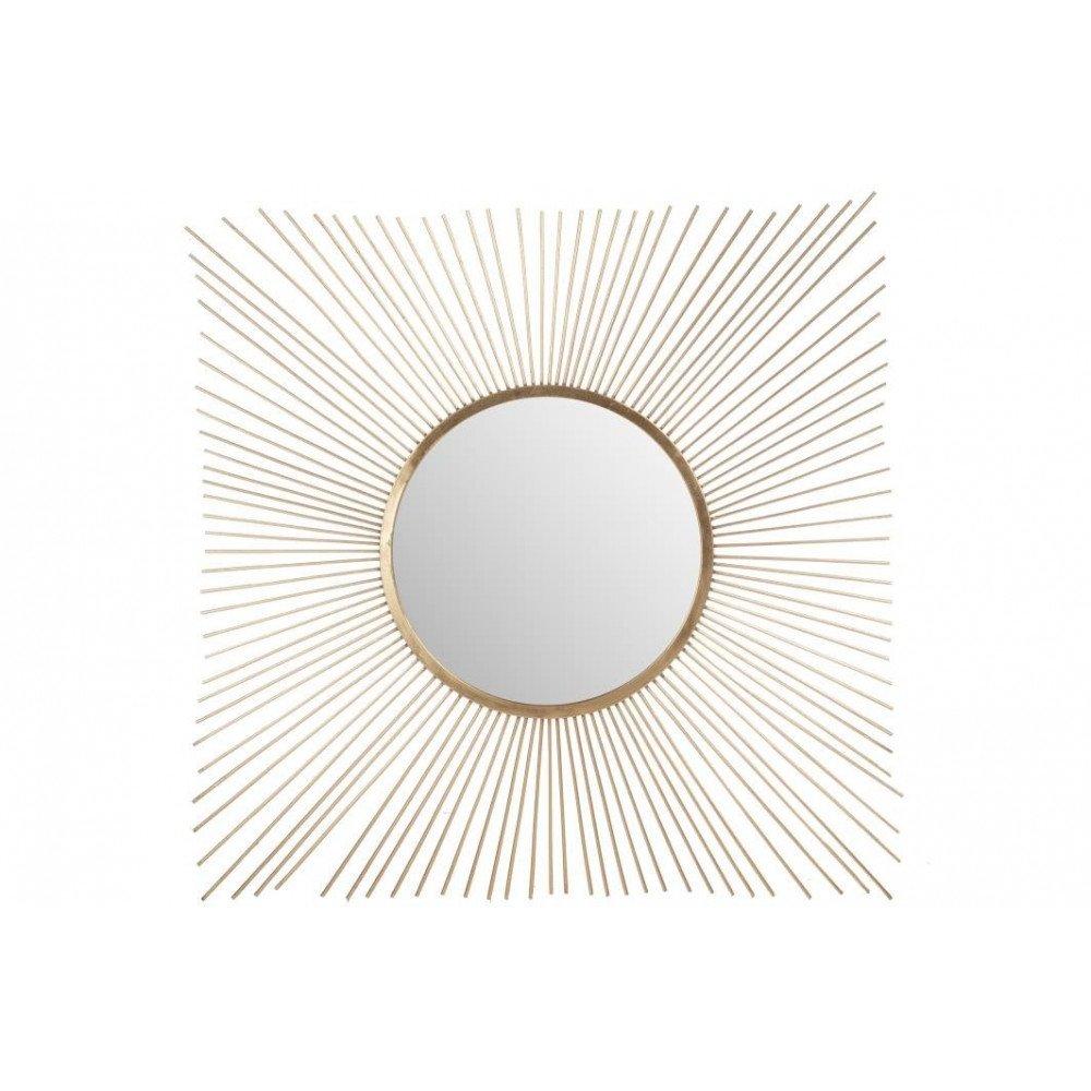 Miroir Rayon Soleil Métal/Verre Or   www.cosy-home-design.fr