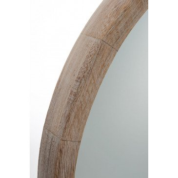 Miroir Rond Bois White Wash Large | www.cosy-home-design.fr