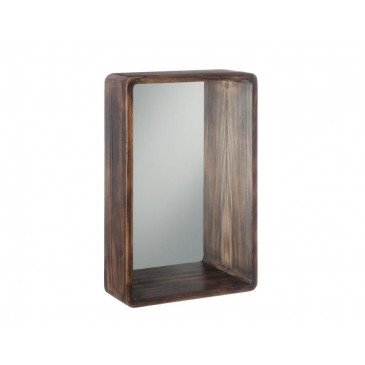 Miroir Rectangulaire Bois Marron Petit | www.cosy-home-design.fr