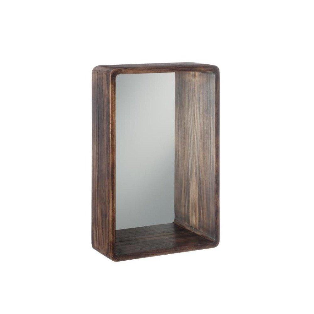 Miroir Rectangulaire Bois Marron Petit | www.cosy-home-design.fr