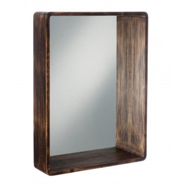 Miroir Rectangulaire Bois Marron Large | www.cosy-home-design.fr