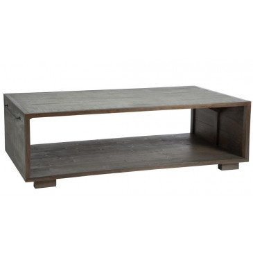 Table Basse et Porte Magazine Bois Gris/Naturel | www.cosy-home-design.fr