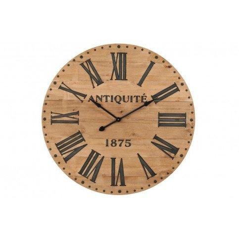 Horloge Chiffres Romain Bois Naturel/Noir Large | www.cosy-home-design.fr