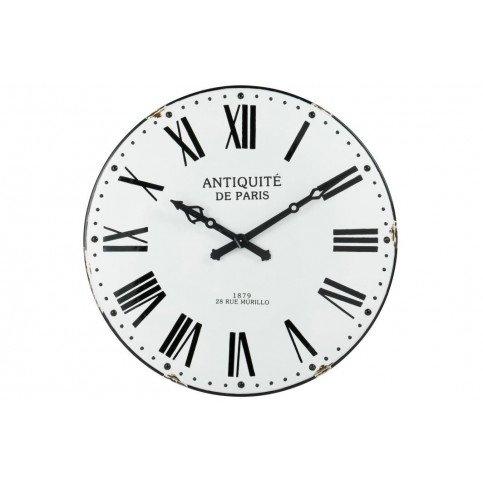 Horloge Chiffres Romain Antique Métal Blanc/Noir | www.cosy-home-design.fr