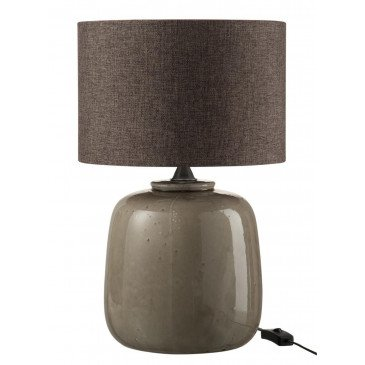Lampe Céramique Taupe   www.cosy-home-design.fr