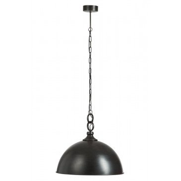 Suspension Ronde Métal Noir Style Industriel | www.cosy-home-design.fr