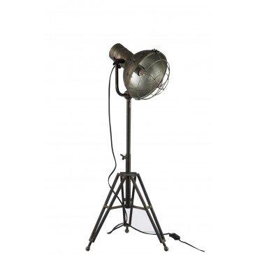 Lampe Sur Pied Ronde Métal Grise | www.cosy-home-design.fr