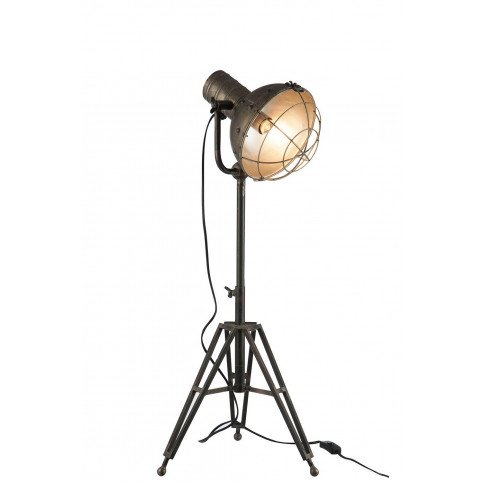 Lampe Sur Pied Ronde Métal Grise   www.cosy-home-design.fr