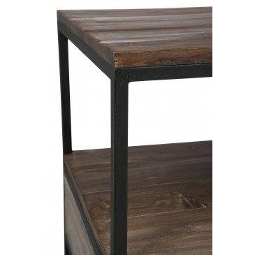 Table Basse Bois/Métal Marron+Noir | www.cosy-home-design.fr