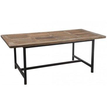 Table A Manger Bois/Métal Marron+Noir | www.cosy-home-design.fr
