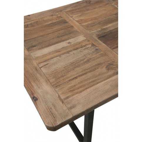 Table A Manger Bois/Métal Marron+Noir | www.cosy-home-design.fr