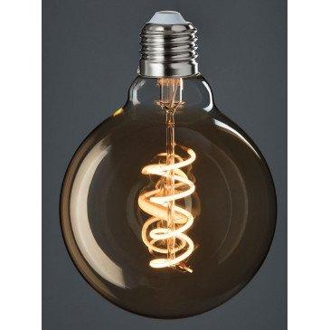 Ampoule Led G95 Ambre Spirale E27 | www.cosy-home-design.fr