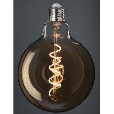 Ampoule Led G125 Ambre Spirale E27 | www.cosy-home-design.fr