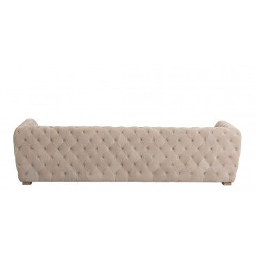 Canapé 3 Places Boutons Suede Beige   www.cosy-home-design.fr
